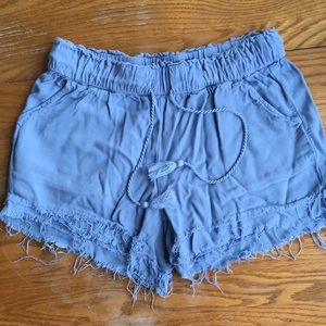 Blue flowy shorts
